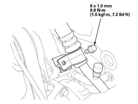 compressor hose bracket