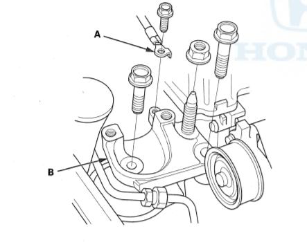 engine side mount bracket mount lift up
