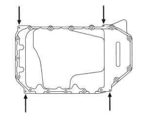 Oil pan removeal