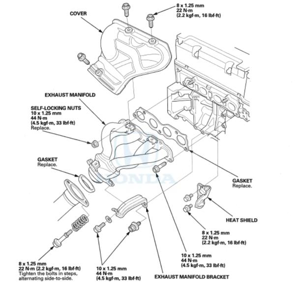 exhaust manifold install