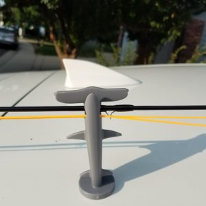 Cutbow's Trout shaped magnetic rod holder is made of non-scaring thermoplastic rubber. TPR ring on magnet edge provides protection for vehicle/surface.