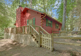Fenced Yard Cabin Rentals in North Georgia | Sliding Rock Cabins®