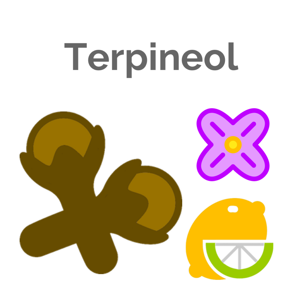 Terpineol is the tertiary terpene found in Quadra