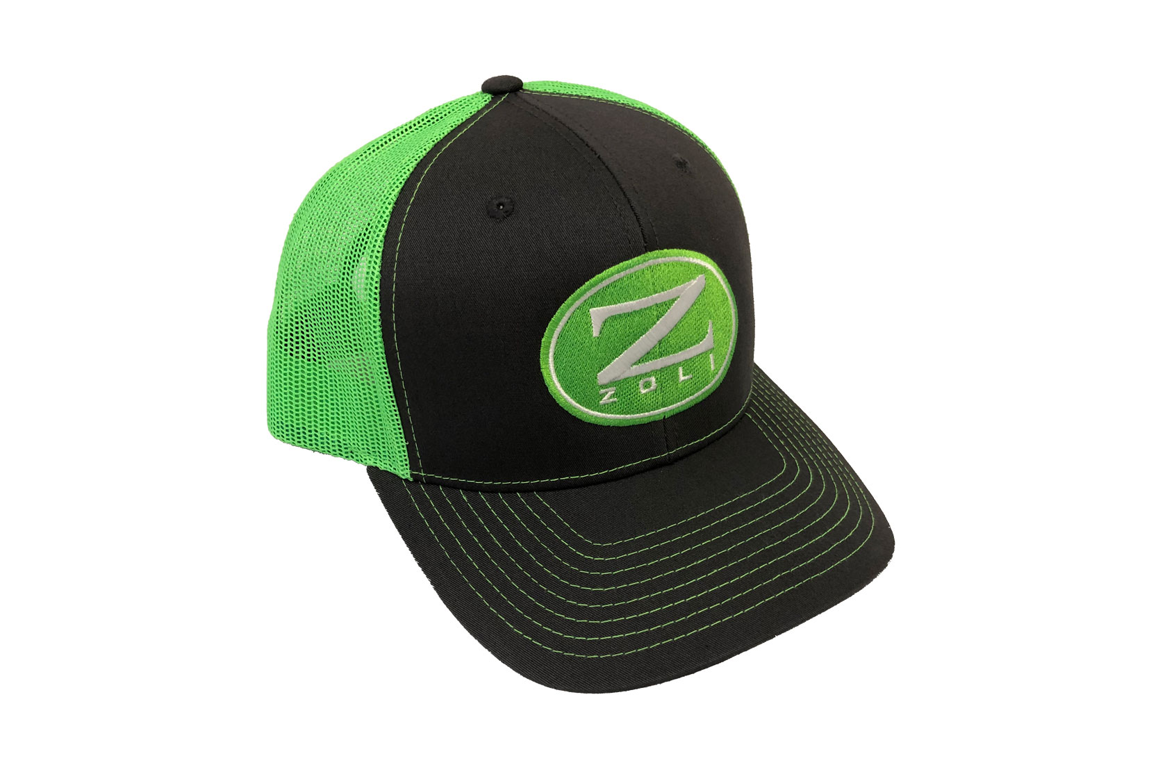 Zoli Embroidered Snap Back Hat (Green)