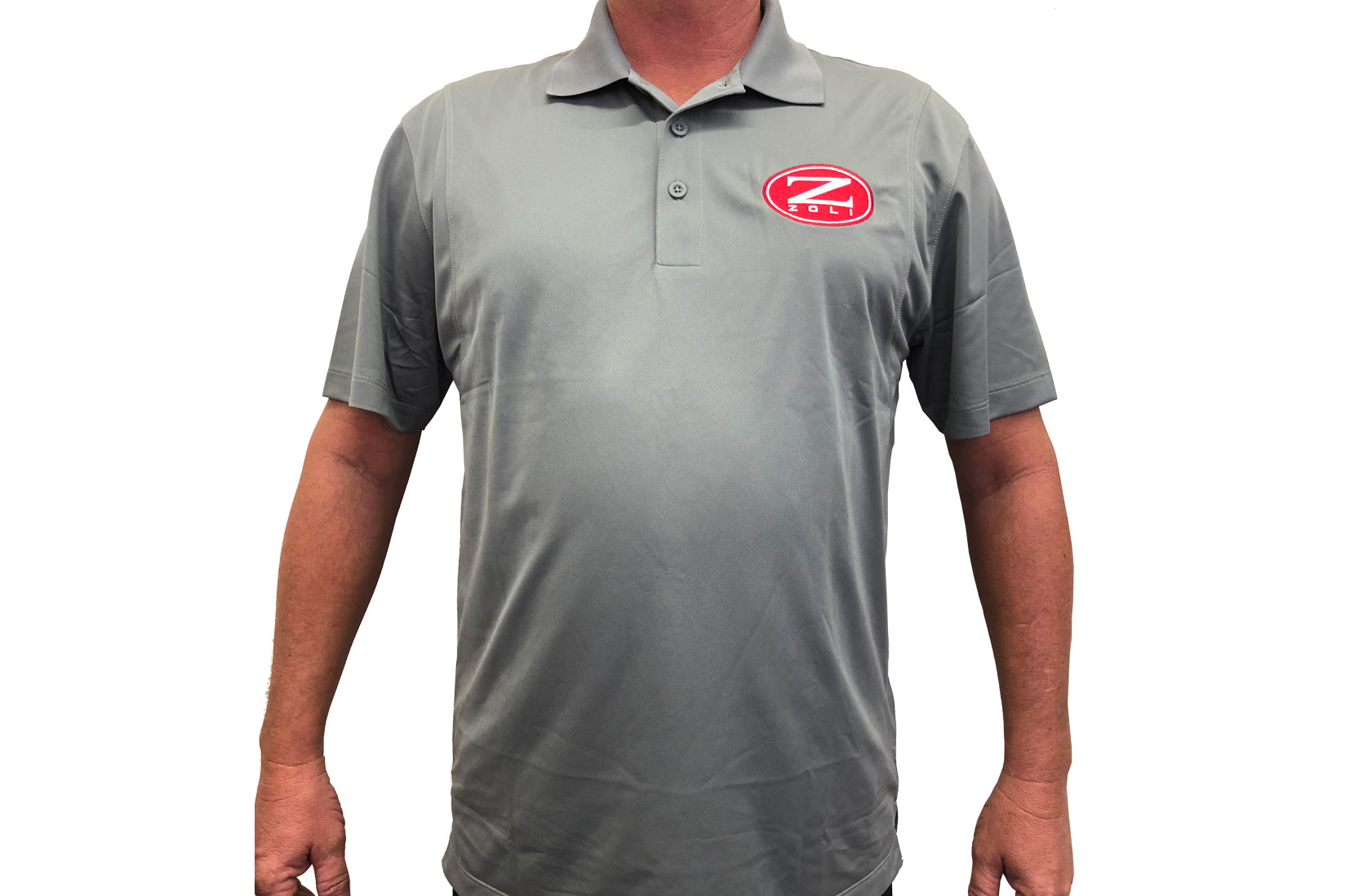 Zoli Embroidered Polo Shirt ( Silver )