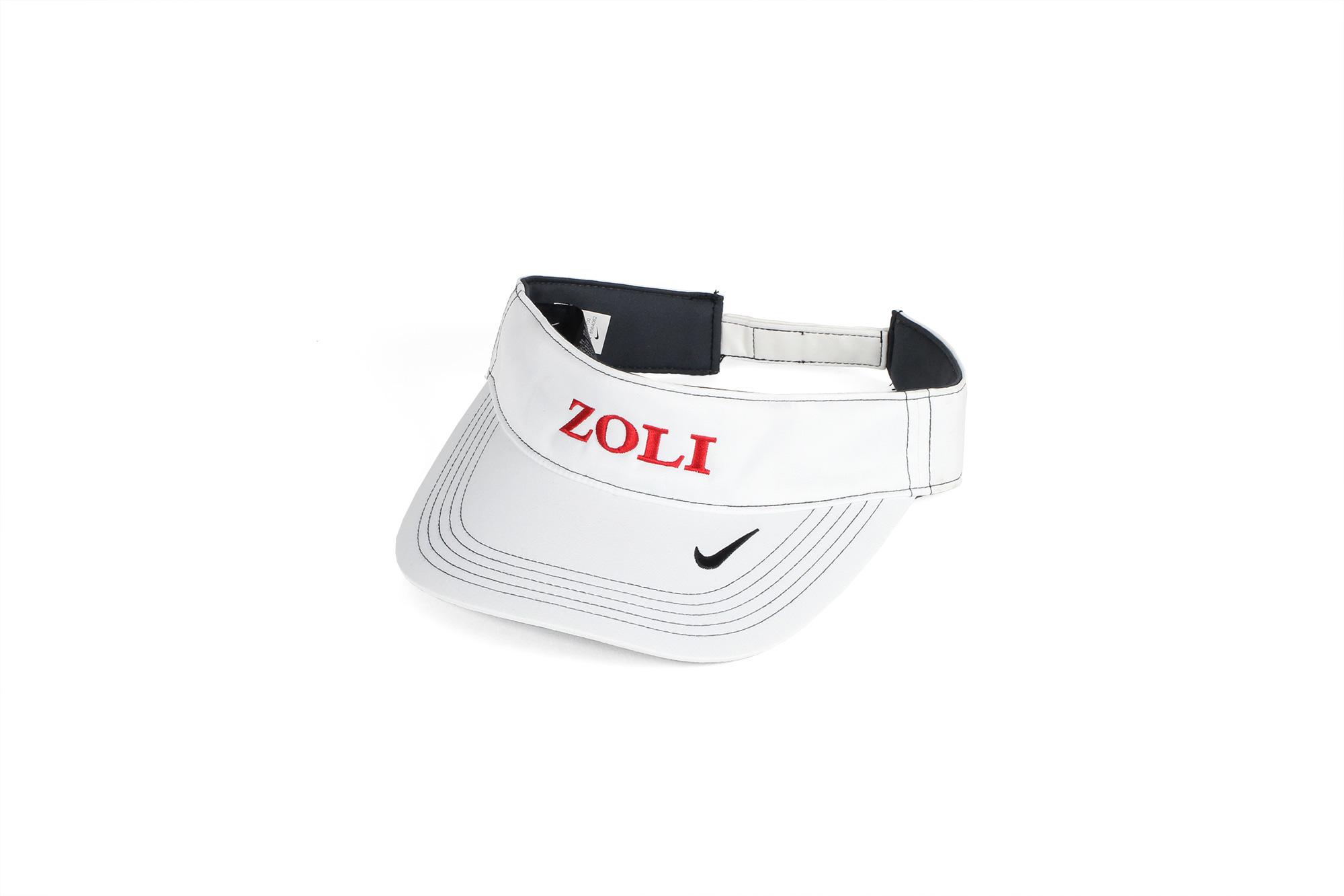 ZOLI Nike Dry Fit Embroidered Visor ( White )