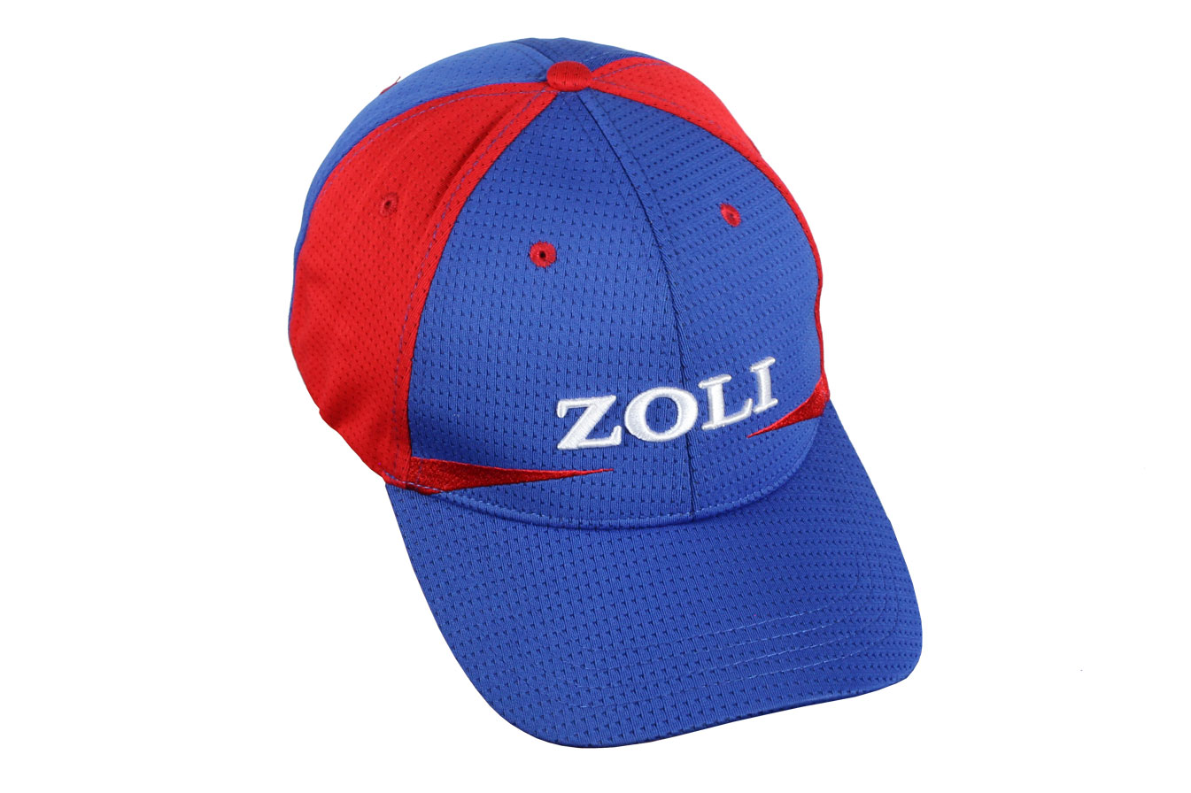 Zoli Embroidered Velcro Back Hat (Red/Blue – DART)