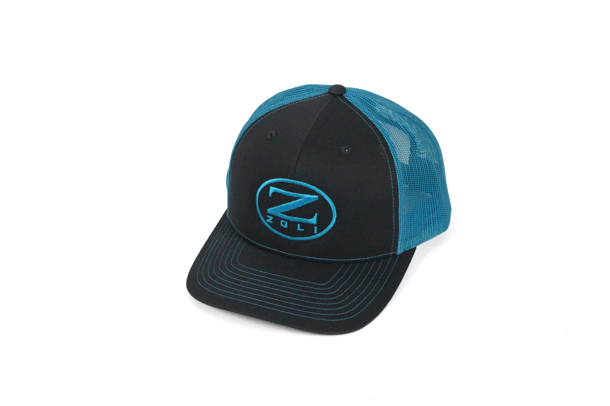 Zoli Embroidered Snap Back Hat (Blue)