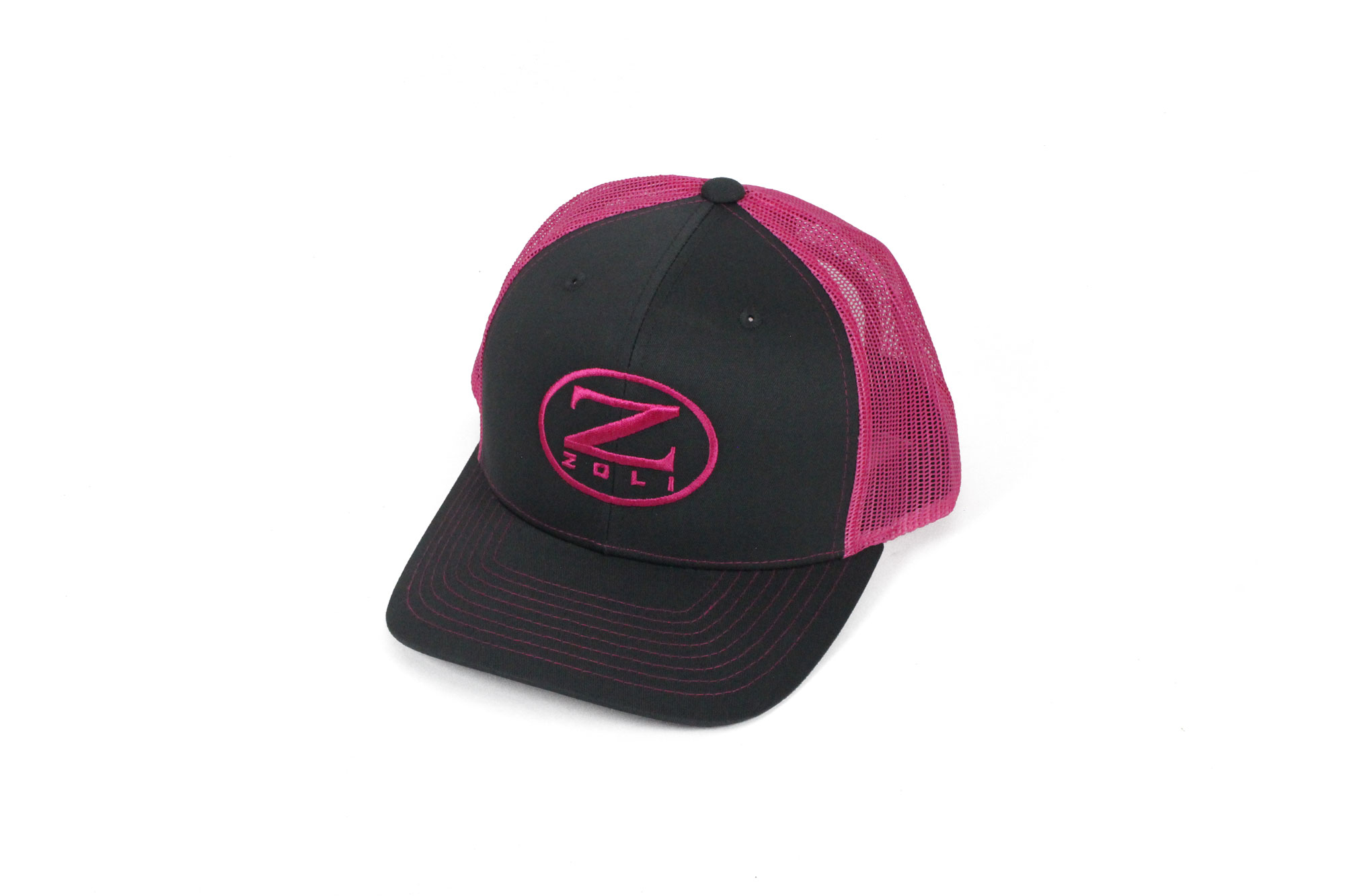 Zoli Embroidered Snap Back Hat (Pink)