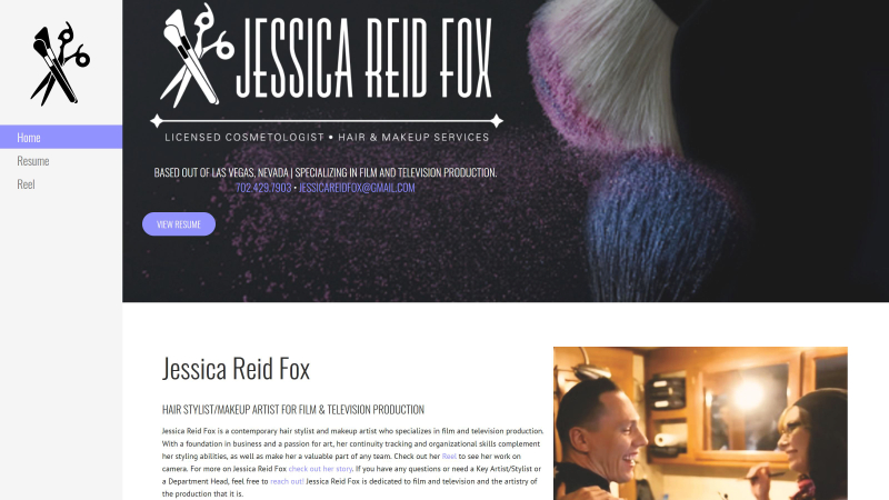 Fox IT Concepts - Website design and management | Jessica Reid Fox's Home page capture
