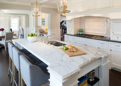 Interior kitchen remodel by JK & Sons.