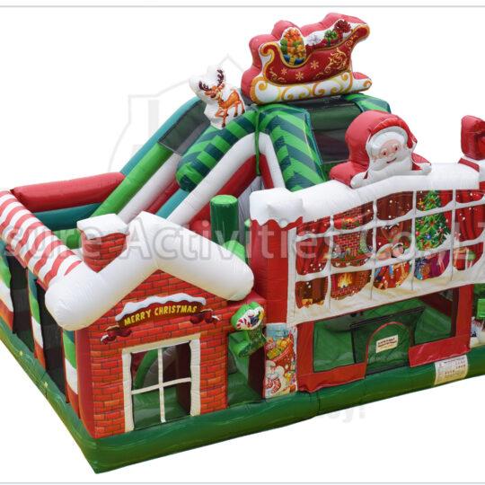 Christmas Bounce House and Slide Combo