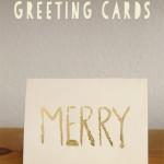 DIY Gold-leafed Greeting Cards
