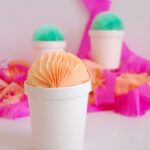 DIY Tissue Ball Ice Cream Pints