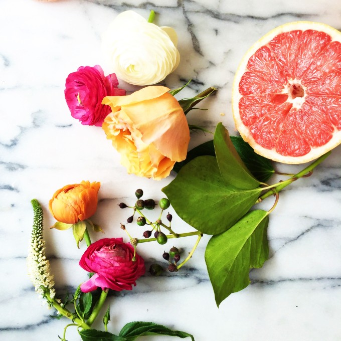 grapefruit floral