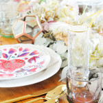 DIY Faux Floral Table Runner For Thanksgiving
