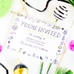 #ProperPrintables \\ Printable New Year's Eve Party Invitations