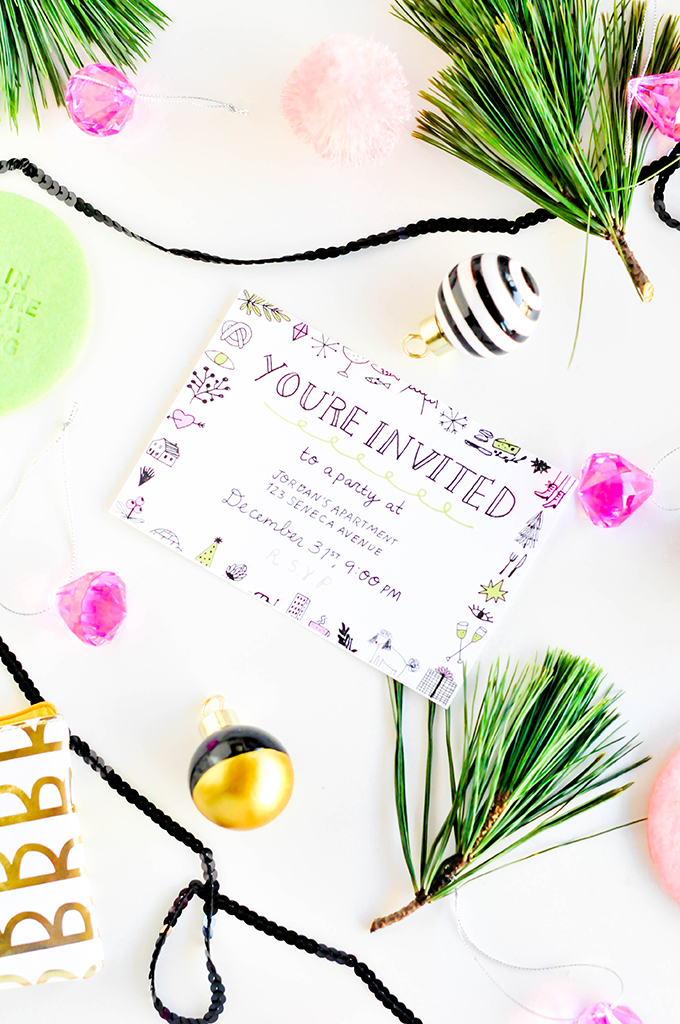 Printable New Year's Eve Party Invitation