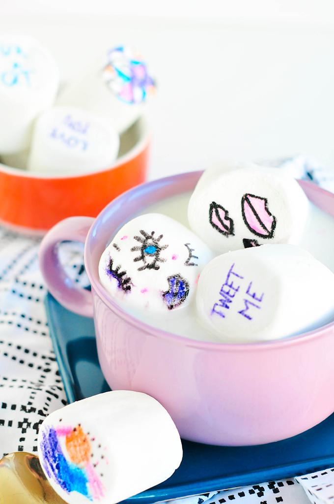 DIY edible cartoon marshmallows - @theproperblog