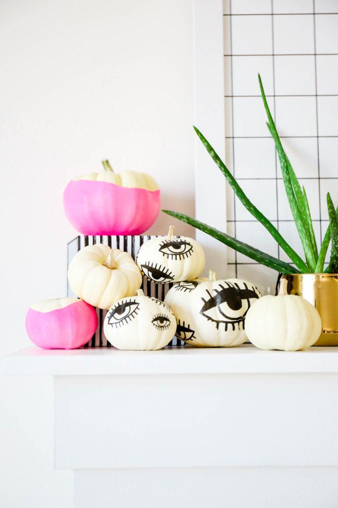 DIY Tattooed Pumpkins with Printable Eyes