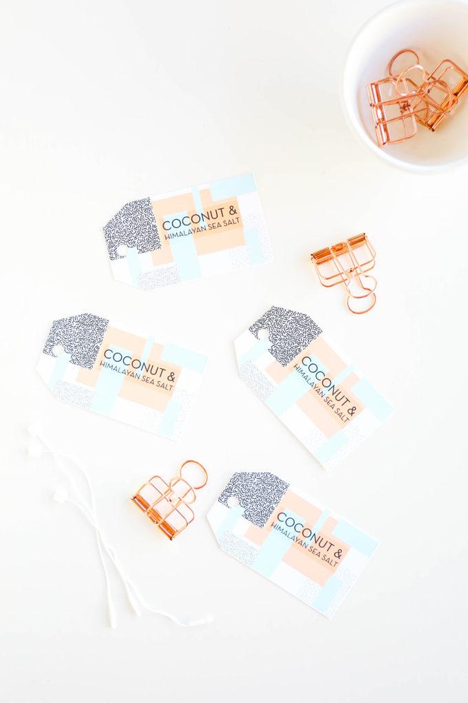 DIY Soap Recipe & Geometric Labels