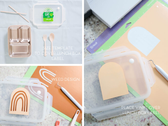 instructions for adding vinyl to lunch box