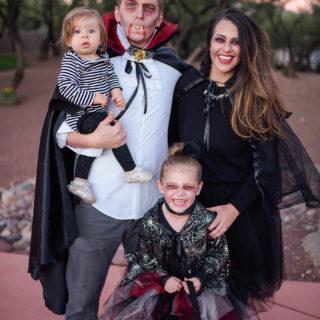 DIY Vampire Family Costume