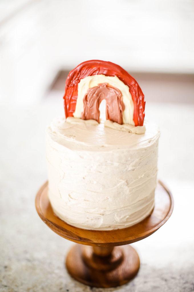 DIY chocolate rainbow cake topper