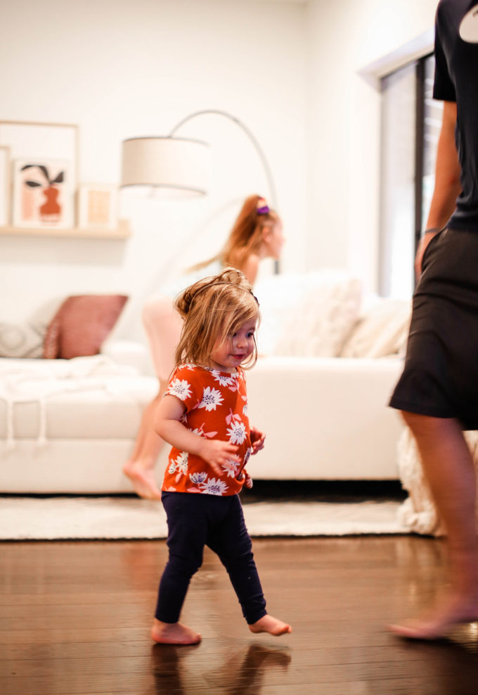 little girls playing indoors