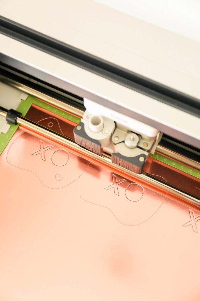 cricut maker machine debossing foil poster board