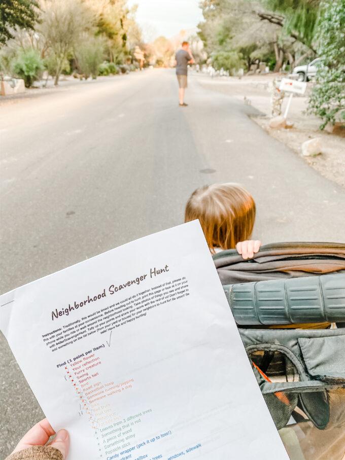 Neighborhood Scavenger Hunt Printable Activity