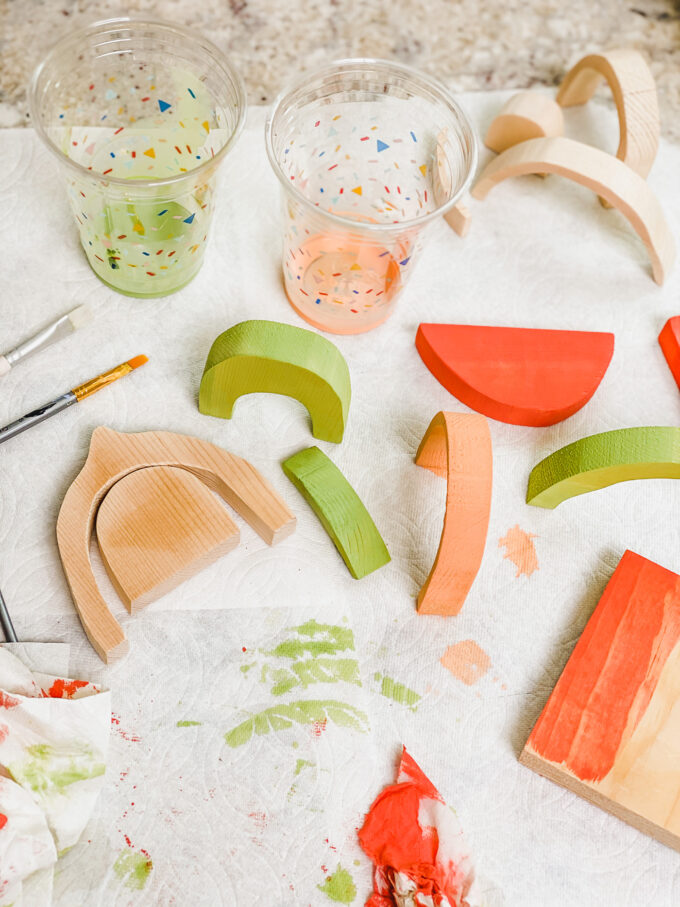 colorwashing DIY Wooden Fruit Stacking Toy