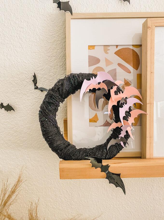 printable paper bat wreath