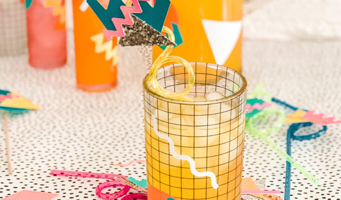 Totally Tubular \\ DIY 80's Drink Decor To Brighten Your Day