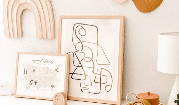 Put A Cork In It \\ DIY Cork Board Wall Decor For Modern Kids Playroom