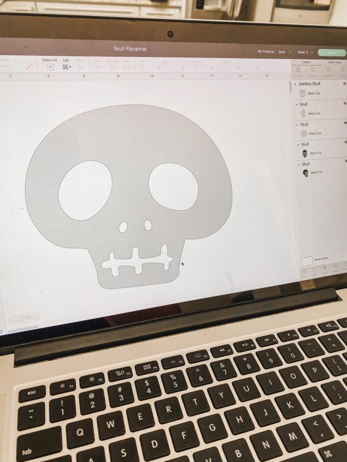 DIY Skull Placemat