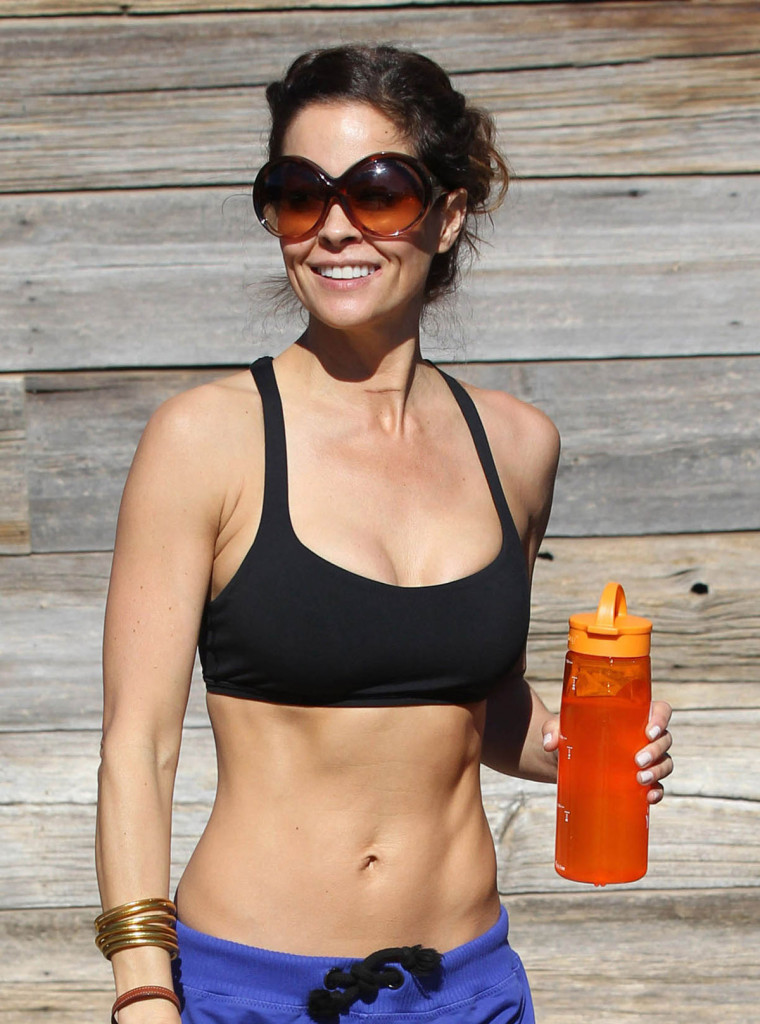 BROOKE BURKE Goes for a Workout