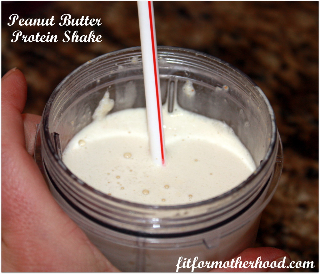 peanut butter protein shake - Aug. 30