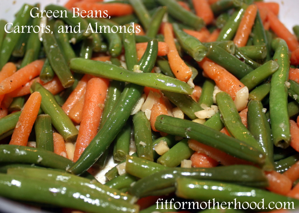 wiaw - green beans carrots almonds