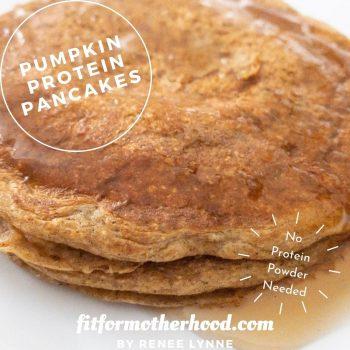 Single Serve Pumpkin Protein Pancakes | No Protein Powder Needed