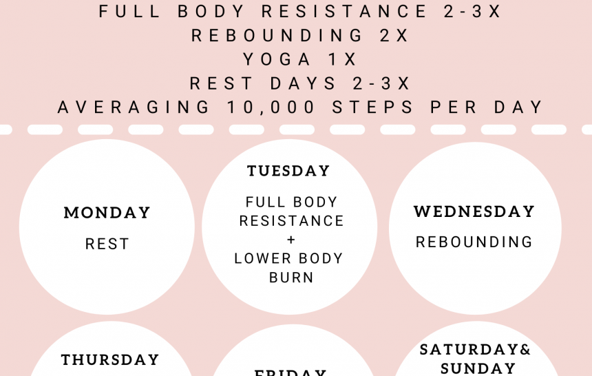 At Home Fitness Routine   My Weekly Workouts (Simple & Effective)