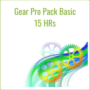 The Gear Pro Pack Basic includes 15 hours a month