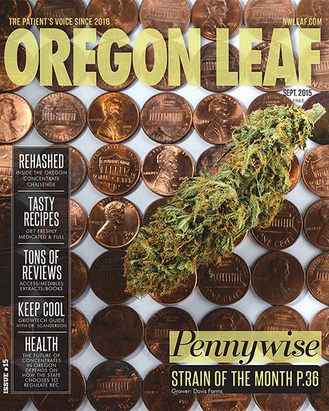 Oregon Leaf September 2015 Cover