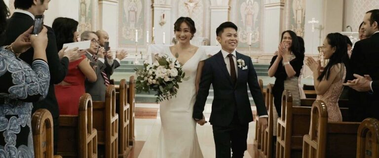 St. Paul's Basilica wedding ceremony and reception held at Mildred's Temple Kitchen in toronto