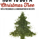 How to buy a Christmas tree with a preschooler and a kindergartener in 109 easy steps by @letmestart is a funny and relatable journey for any mom or dad who has taken young children to choose a Christmas tree! | holiday humor and funny lists