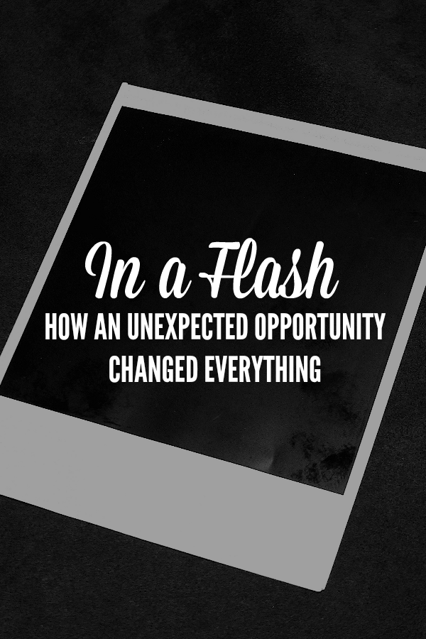 In a Flash - How an unexpected opportunity changed everything for a survivor by @letmestart