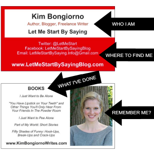 Kim Bongiorno Business Cards on How to Prepare for Blog Conferences