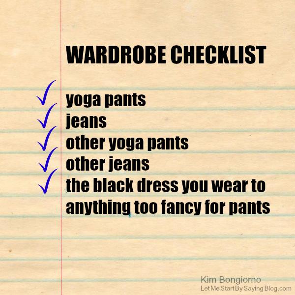 Wardrobe checklist for moms by Kim Bongiorno