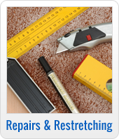 Carpet repair and re-stretching