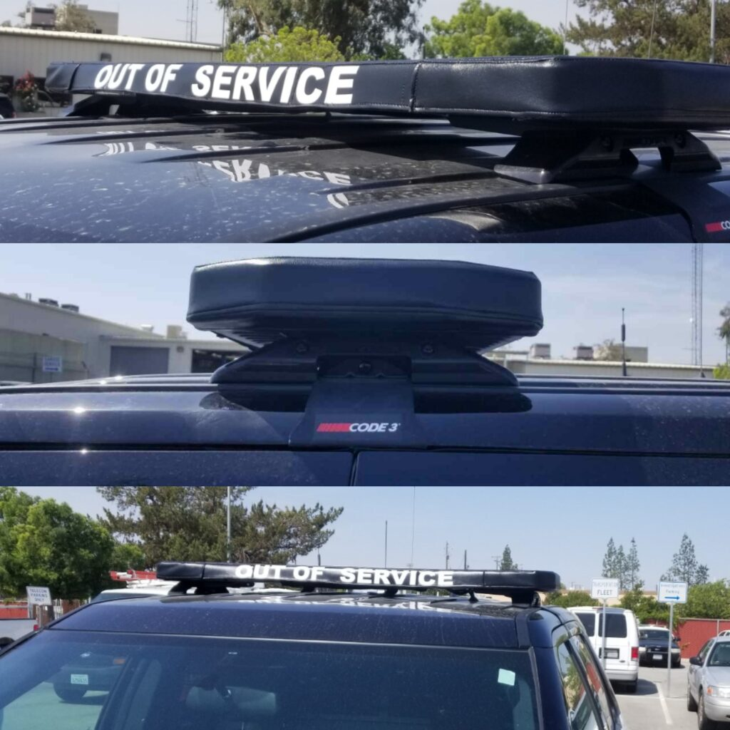out of service light bar cover